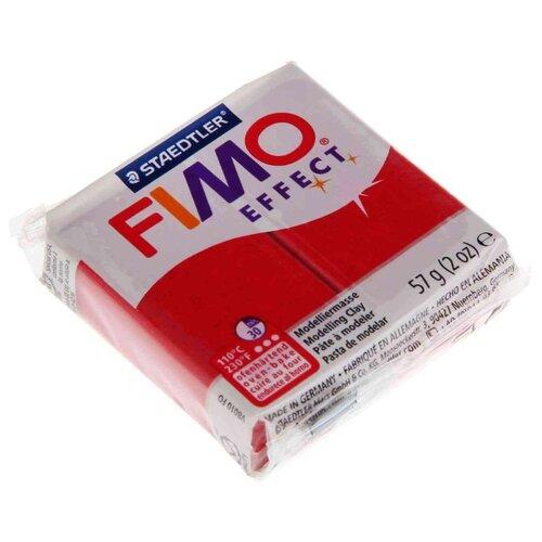 Фото - Полимерная глина FIMO Effect запекаемая красный с блестками (8020-202), 57 г полимерная глина artifact lapsi glitter 9 классических цветов с блестками 7109 78 180 г