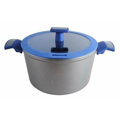 Кастрюля GIPFEL WERNER SOFFY 5,5 л, серебристый/синий кастрюля gipfel werner malta 3 1 л черный