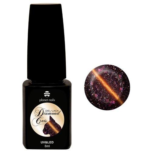 Гель-лак для ногтей planet nails Diamond cats, 8 мл, оттенок 765 коричнево-розовый акригель vogue nails polygel камуфлирующий для моделирования 60 мл розовый