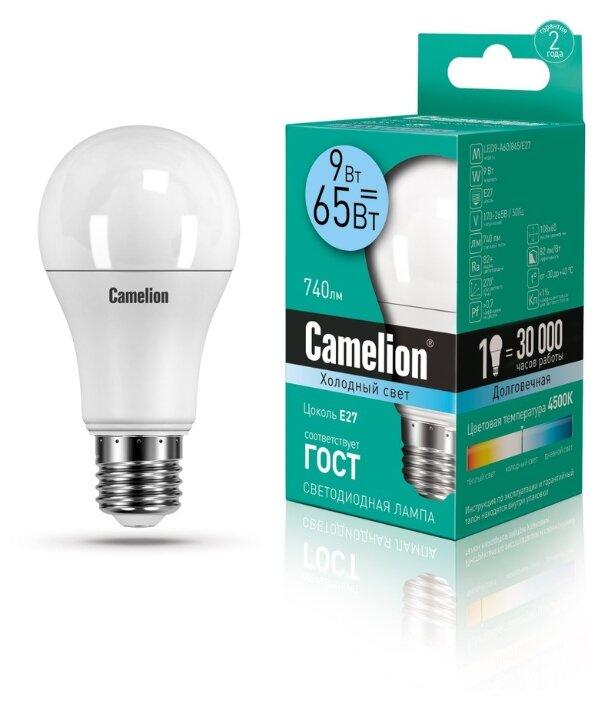 Лампа светодиодная Camelion 12044, E27, A60, 9Вт