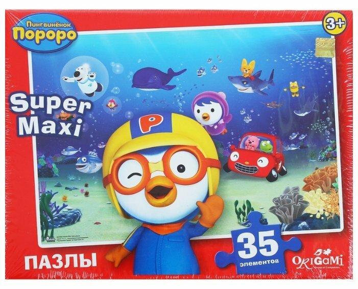 Пазл Origami Пингвиненок Пороро Подводный мир (01764), 35 дет.