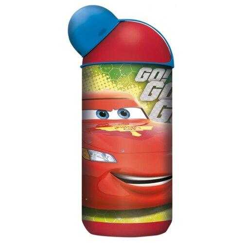 Бутылка для воды, для безалкогольных напитков Stor эрогономичная 0.4 пластик Тачки Грани гонок