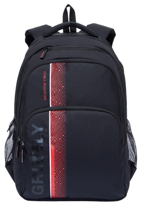 Рюкзак мужской Grizzly RU-934-5, материал Нейлон 290, цвет черный - красный