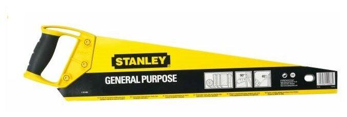 Ножовка по дереву STANLEY General Purpose 1-20-093 450 мм — купить по выгодной цене на Яндекс.Маркете