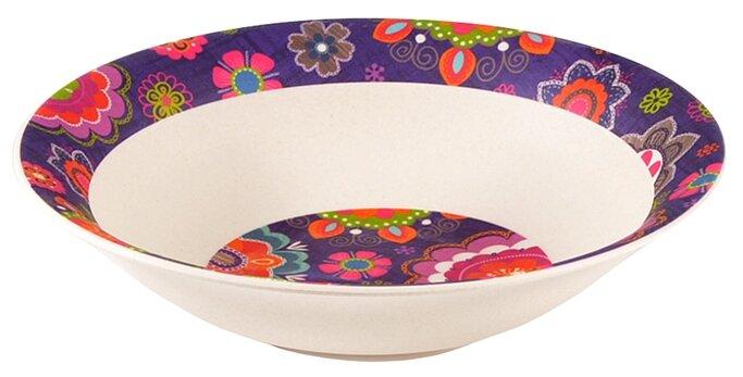 Посуда из бамбука Fissman Тарелка PURPUR 19x5см Глубокая (бамбуковое волокно)