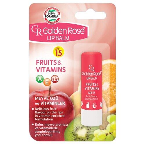 Golden Rose Бальзам для губ Фрукты и витамины SPF 15