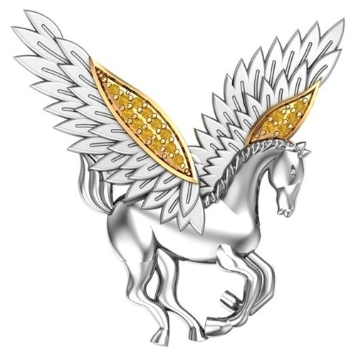 POKROVSKY Серебряная брошь с желтыми фианитами 2700072-00665