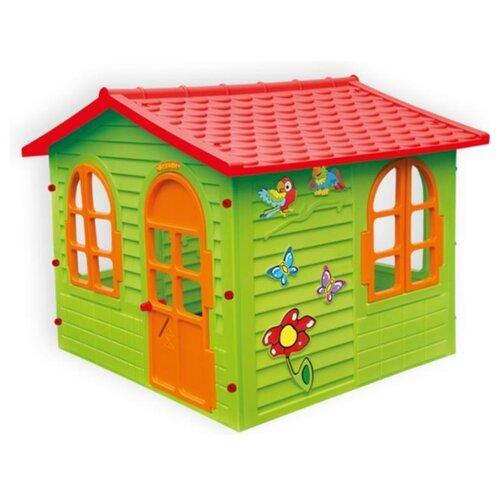 Купить Домик Mochtoys Вилла 10425 салатовый/красный/оранжевый, Игровые домики и палатки