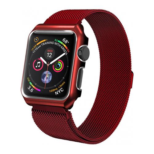 Купить CARCAM Ремешок для Apple Watch 44mm One Body Milanese Loop Металл красный