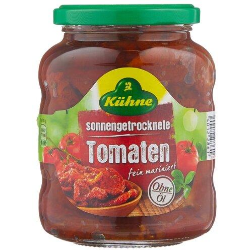 Томаты сушеные без содержания масла Kuhne стеклянная банка 340 г пудовъ томаты сушеные резаные 100 г