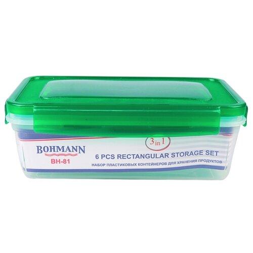 Bohmann Набор контейнеров BH-81 зеленый/прозрачный