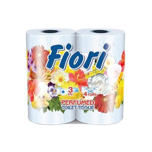Купить Туалетная бумага Aster Fiori трёхслойная голубая, 4 рул.