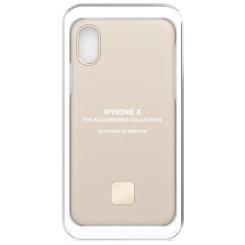 Чехол Happy Plugs 9166 + защитная пленка для Apple iPhone X/Xs nude пленка