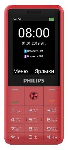 Телефон Philips Xenium E169, красный