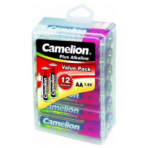 Батарейка Camelion Plus Alkaline AA 12 шт блистер батарейка camelion green series aaa 4 шт блистер