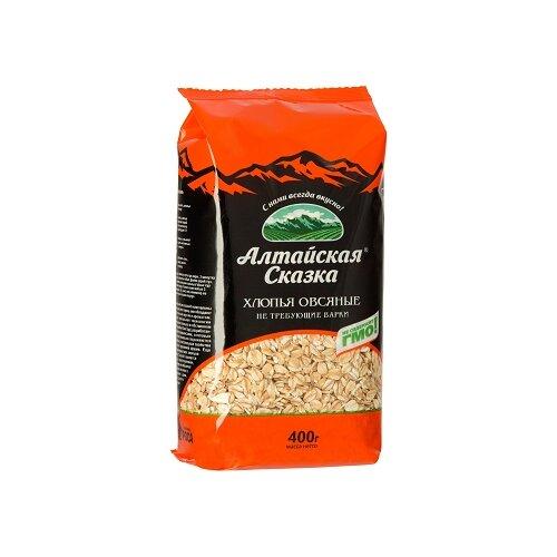 алтайская сказка смесь круп гречка рис в пакетах для варки 400 г 5х80 г Алтайская сказка Хлопья овсяные, 400 г