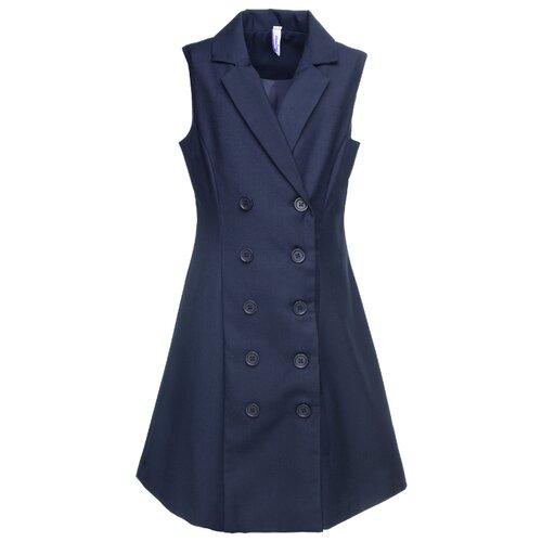 Купить Сарафан playToday размер 164, темно-синий, Платья и сарафаны