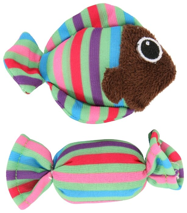 Игрушка для кошек ZOLUX рыбка и конфета (580116VER)