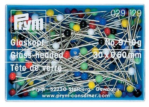 Набор булавок Prym 029129 со стеклянными головками 0,60 x 30мм