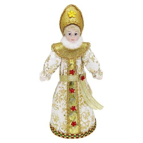 Фигурка Новогодняя Сказка Снегурочка 20 см белый/золотистый фигурка снегурочка 5х7 см