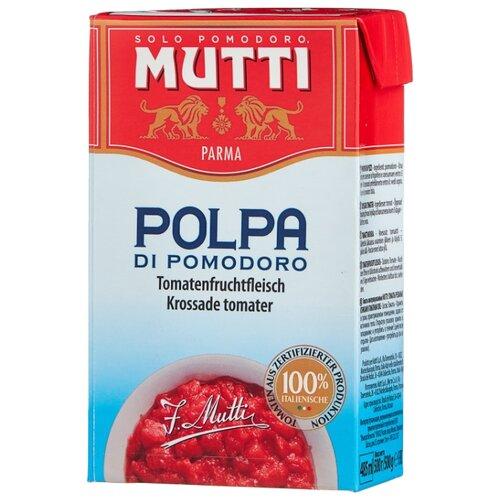 Томаты резаные кубиками в томатном соке Mutti картонная коробка 500 г