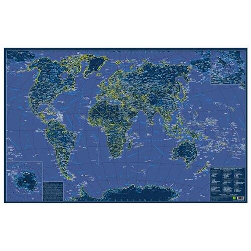 Купить РУЗ Ко Карта мира святящаяся в темноте сувенирное издание (Кр708п), 90 × 60 см, Карты