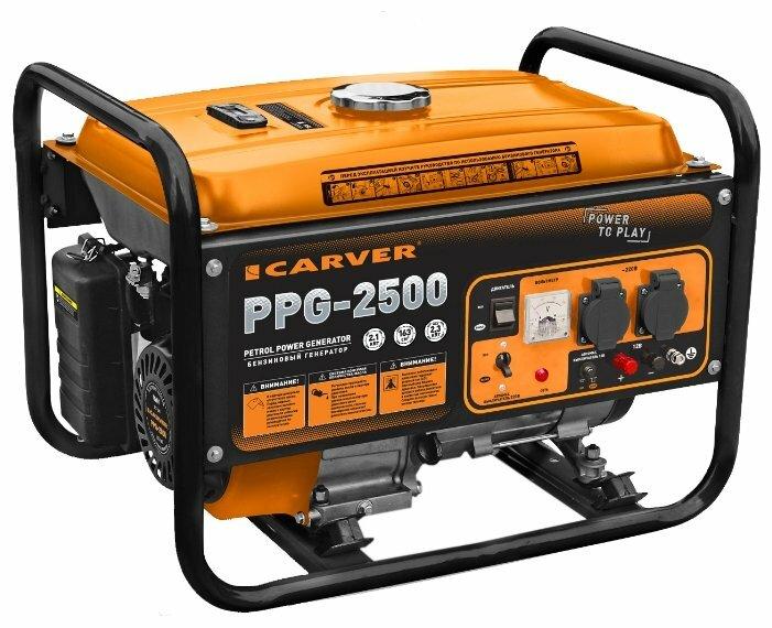 Бензиновый генератор Carver PPG 2500 (2100 Вт)