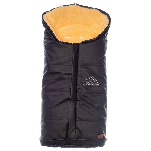 Купить Конверт-мешок Nuovita Siberia Lux Pesco меховой 90 см черный, Конверты и спальные мешки