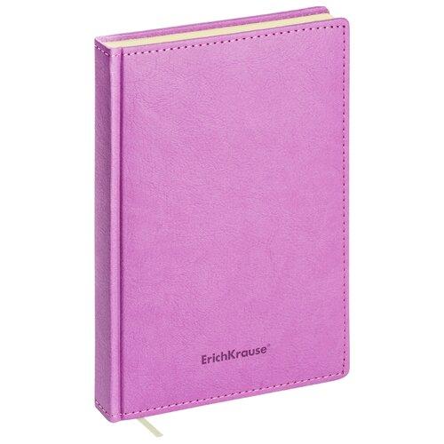 Купить Ежедневник ErichKrause Corolla недатированный, искусственная кожа, А5, 168 листов, лиловый, Ежедневники, записные книжки