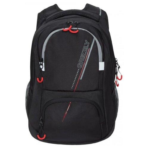 Рюкзак Grizzly RU-031-1/2 13 (черный - серый) рюкзак городской grizzly цвет серый 25 л ru 614 1 4