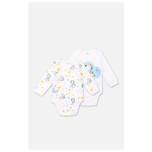 Купить Боди playToday размер 68, белый/голубой/желтый