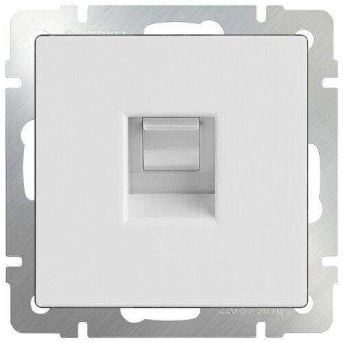 Фото - Розетка для интернета / телефона Werkel WL01-RJ-45, белый розетка для интернета телефона werkel wl01 rj 11 белый