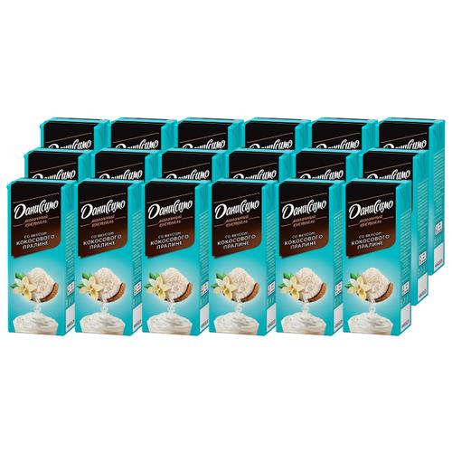 Молочный коктейль Даниссимо со вкусом кокосового пралине 2.5%, 215 г, 18 шт.