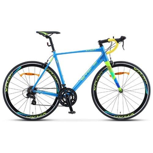 Шоссейный велосипед STELS XT 280 V010 (2020) синий/желтый 23 (требует финальной сборки) велосипед stels xt280 28 v010 2020 23 серый желтый
