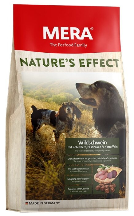 Корм для собак Mera (1 кг) Nature's Effect с кабаном, свеклой, пастернаком и картошкой для взрослых собак
