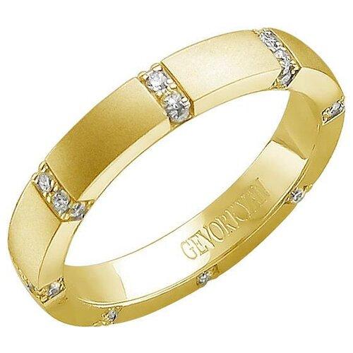 Эстет Кольцо с 32 бриллиантами из жёлтого золота 01О630368, размер 18