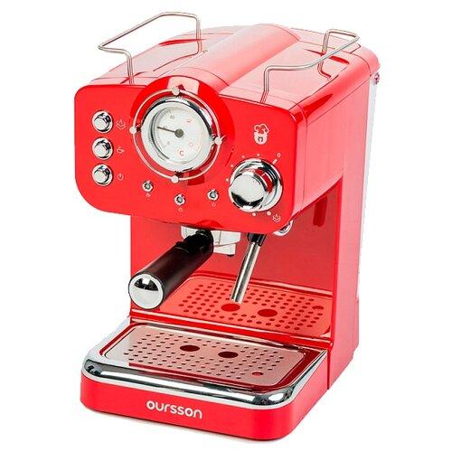 Фото - Кофеварка рожковая Oursson EM1500, красный кофеварка oursson cm0400g оранжевый