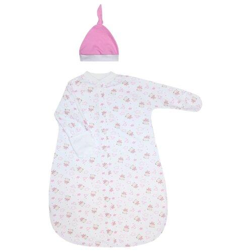 Фото - Комплект одежды KotMarKot размер 62-68, белый/розовый комплект одежды kotmarkot размер 62 68 белый голубой
