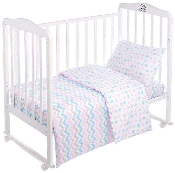 Комплект в кроватку Sweet Baby Colori Rosa (Розовый), 3 предмета, поплин