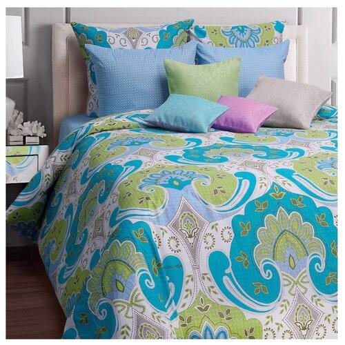 Постельное белье евростандарт Mona Liza Marakech 50х70 см, бязь синий/белый мона лиза постельное белье семейный mona liza mozaika