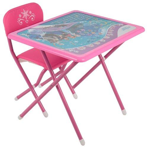 Купить Комплект ДЭМИ стол + стул Disney Холодное сердце (к3-06) 63x54 см розовый, Парты и столы