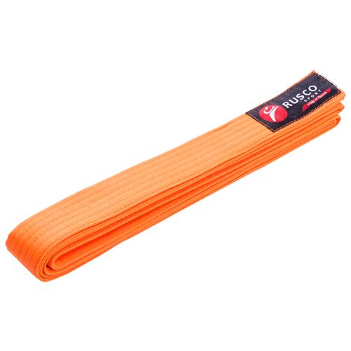 Пояс для единоборств RUSCO, 260 см, оранжевый