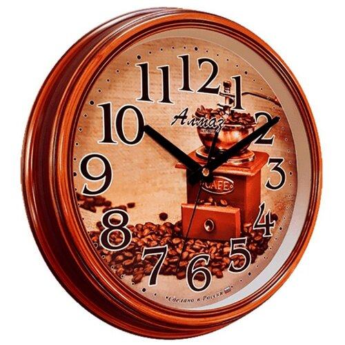Часы настенные кварцевые Алмаз A04 светло-коричневый