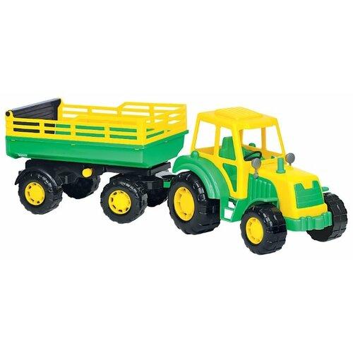Фото - Трактор Полесье Алтай с прицепом (35356) 57.5 см трактор полесье алтай с прицепом 2 и ковшом 35363 66 см