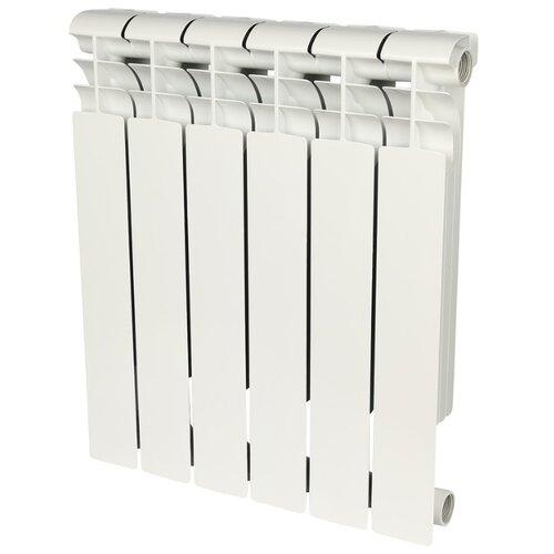 Радиатор секционный биметаллический ROMMER Profi Bm 500 x6 500/80 6 секций , подключение универсальное боковоеРадиаторы<br>