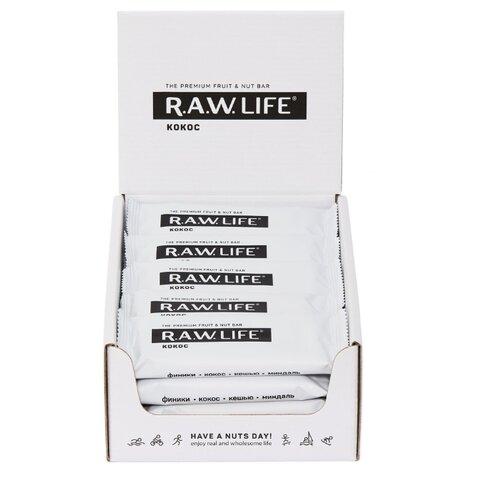 Фруктовый батончик R.A.W. Life Орехово-фруктовый батончик R.A.W. LIFE без сахара Кокос, 20 шт. фруктовый батончик r a w life без сахара mix classic 20 шт