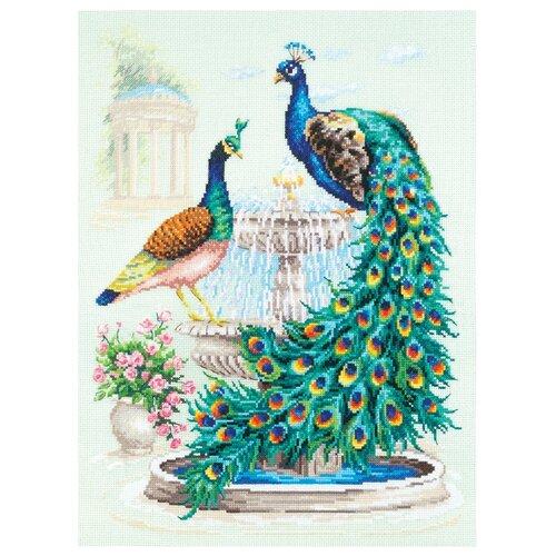 Купить Чудесная Игла Набор для вышивания Павлины 30 x 40 см (130-001), Наборы для вышивания