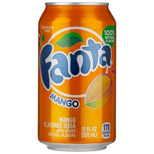 Газированный напиток Fanta Mango, США, 0.355 л