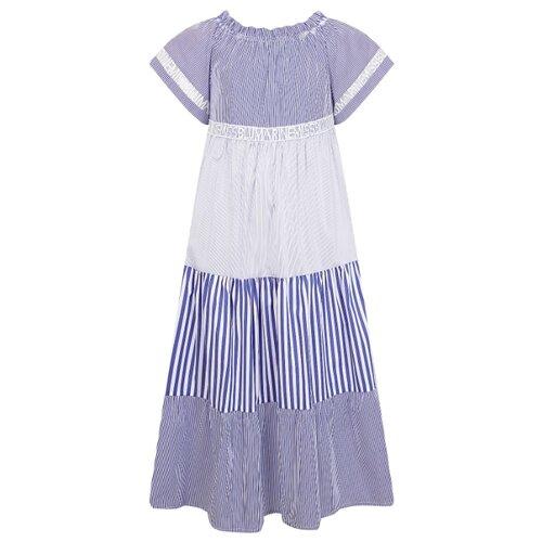 Купить Платье Blumarine размер 134, синий/белый, Платья и сарафаны