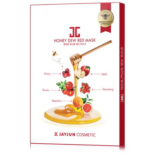 JAYJUN COSMETIC тканевая маска Honey Dew Red медовая витаминная с красным комплексом, 125 мл, 5 шт. jayjun cosmetic тканевая маска purple fragrance на основе растительных экстрактов 250 мл 10 шт